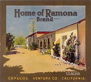 Rancho Camulos - Home of Ramona branding label