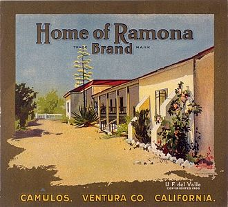 Rancho Camulos - Home of Ramona branding label