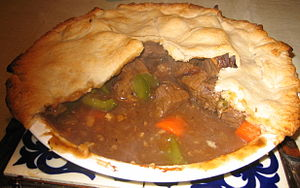 a homemade meat pie