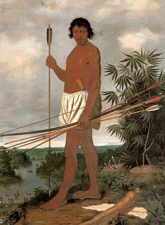 Caeté people - Albert Eckhout's painting of the Tupi