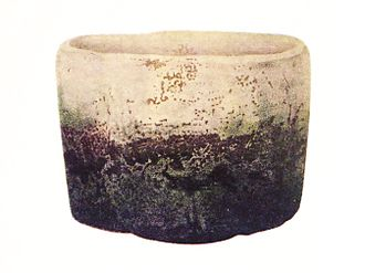 "Japanese pottery and porcelain - ""Fujisan"" white Raku ware tea bowl (chawan) by Hon'ami Kōetsu, Edo period (National Treasure)"