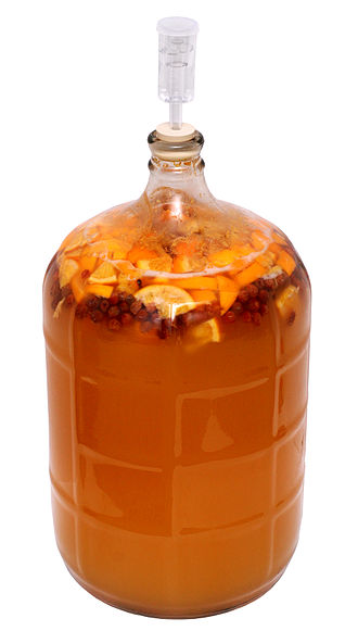 Mead - A homebrewed melomel mead