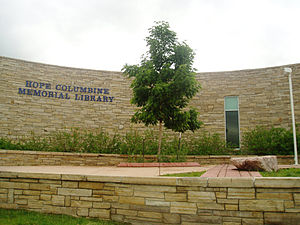Columbine High School massacre - The HOPE Columbine Memorial Library that replaced the library where most of the massacre took place