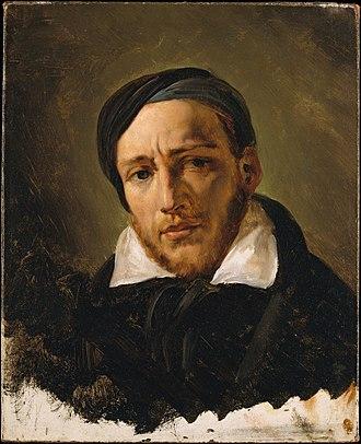 Théodore Géricault - Théodore Géricault by Horace Vernet, circa 1822–1823