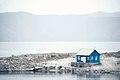House on the shore of lake Sevan, Armenia - Տնակ Սևանա լճի ափին, Հայաստան.jpg