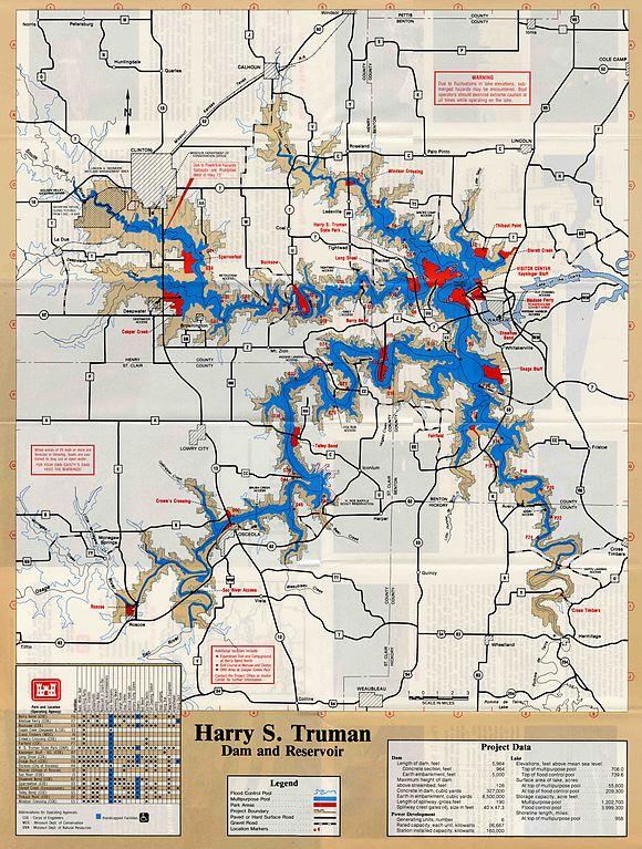map of truman lake Truman Reservoir Wikiwand map of truman lake