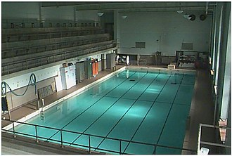 Huff Hall - Huff Hall Swimming Pool, circa 2001.