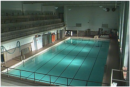 Huff Hall Swimming Pool, circa 2001.