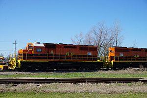 Kiamichi Railroad - Image: Hugo March 2016 01 (Kiamichi Railroad freight)
