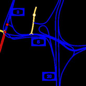 Highway 2 (Israel) - Image: I Ljunction glilot