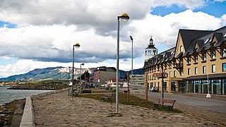 Puerto Natales City in Magallanes y Antártica Chilena, Chile