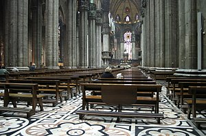 Roman Catholic Archdiocese of Milan - Inside view of the Duomo di Milano.