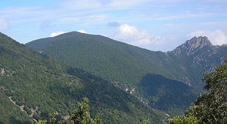 Sulcis Mountains - Monte Is Caravius in the Sulcis Mountains.