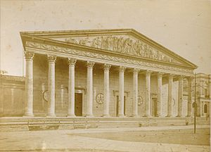 Buenos Aires Metropolitan Cathedral - The Cathedral as seen in 1876. Photo by Christiano Junior