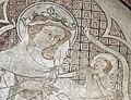 Im frühen 14. Jahrhundert schuf Rudolphus von Wimpfen die Fresken in der Marienkirche. Maria mit Jesus.jpg