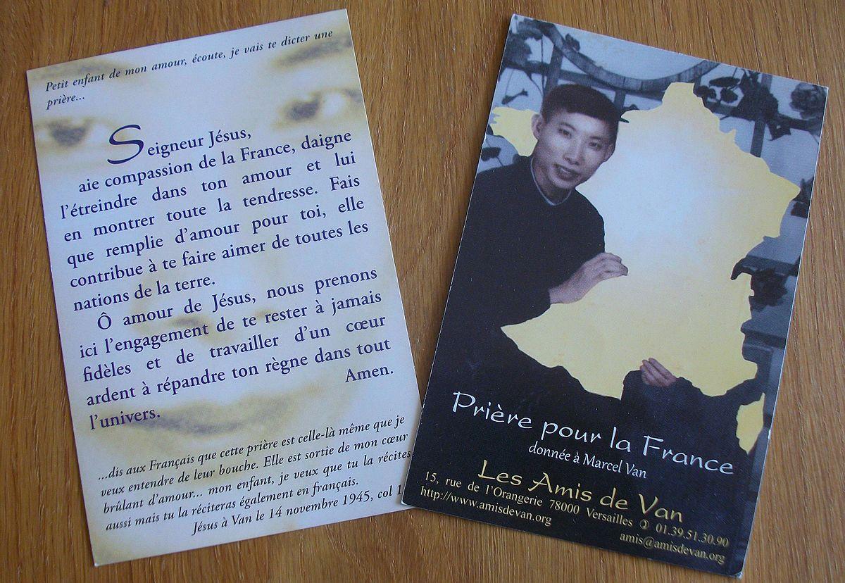 L'Armée de la Sainte Vierge - Prophétie à Marcel Van 1200px-Image_priere_pour_la_france