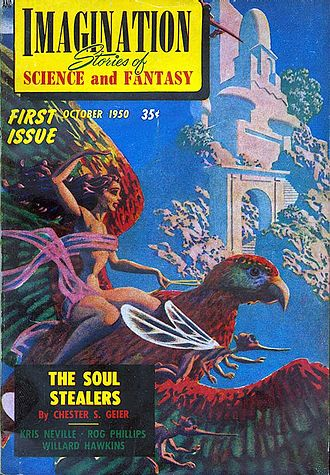 Imagination (magazine) - Cover of the first issue by Hannes Bok