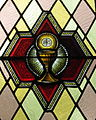 Immaculate Conception Catholic Church (Port Clinton, Ohio) - stained glass, Eucharist.JPG
