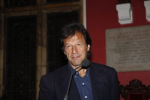 English: Imran Khan hosted by the Oxford Unive...