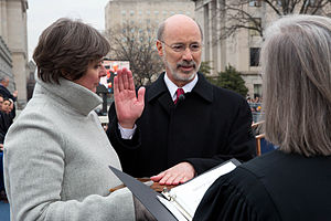 Tom Wolf (politician) - Wolf takes the oath of office as Governor on January 20, 2015