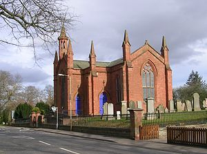 Inchture - Inchture Church of Scotland church, photo taken from the main street, facing east