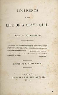 <i>Incidents in the Life of a Slave Girl</i> Autobiography by Harriet Jacobs