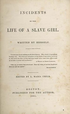 Incidents in the Life of a Slave Girl - Frontispiece of the first edition
