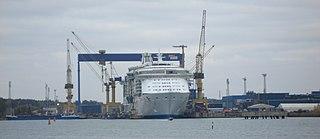 shipyard in Turku, Finland