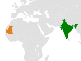 Diplomatic relations between the Republic of India and the Islamic Republic of Mauritania