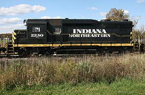 Indiana Northeastern Railroad - Indiana Northeastern Railroad locomotive no. 2230. EMD GP30. Ex-Pennsylvania Railroad. Built April 1963.