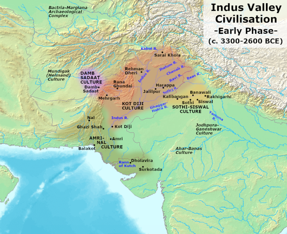 Indus Valley Civilization, Early Phase (3300-2600 BCE)