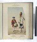 Infanteria de linea. Tambor, del regimiento de Irlanda; Granadero, del regimiento de Leon. (Años de 1780 á 1789) (NYPL b14896507-87686).tiff