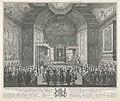 Inhuldiging van prins Willem V tot Ridder in de Orde van de Kousenband, 1752, RP-P-OB-84.444.jpg