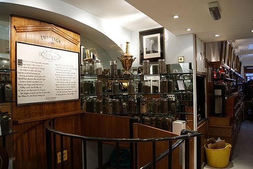 Interior of the Twinings Strand Heritage Shop, London, UK - 20120129-01