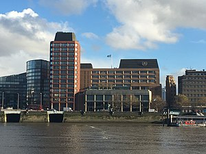 International Maritime Organization - The Headquarters of the IMO are located on Albert Embankment, Lambeth, London.