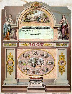International Organisation of Good Templars membership certificate 1868.jpg