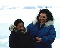 Inuit grandmother and grandchild, 1995.