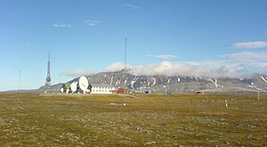 Isfjord Radio - Image: Isfjord radio on Svalbard seen from west