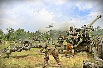 Italian Army - 1st Mountain Artillery Regiment on exercise