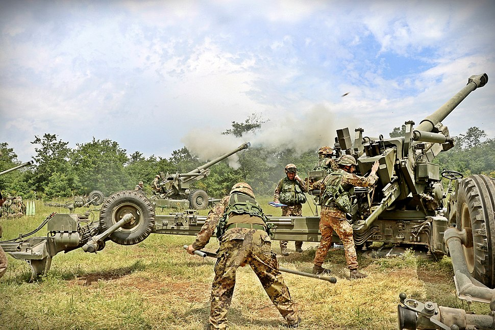 Italian Army - 1st Mountain Artillery Regiment exercise
