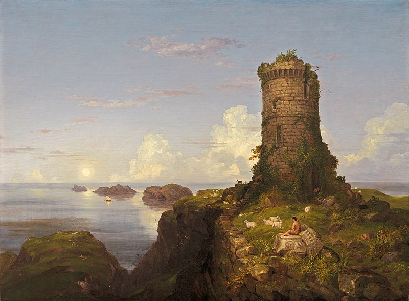 File:Italian Coast Scene with Ruined Tower-1838-Thomas Cole.jpg