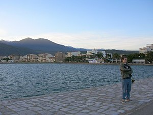 Itea, Phocis - The city of Itea in March 2006 from the view of one of its docks.