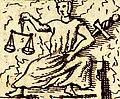 Iustitia Papstgrab Bamberg aus Gottfried Henschen u Daniel Papebroch 1747.jpg