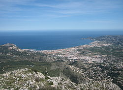 View of Xàbia from Montgó massif