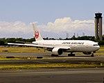 JA701J JAL Boeing 777-244 (ER) Japan Airlines (15784221066).jpg