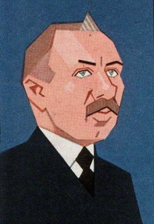 J. H. Thomas - Cigarette card from 1926 depicting Thomas