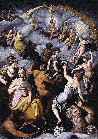 1575 in art - Zucchi – The Assembly of the Gods, private collection