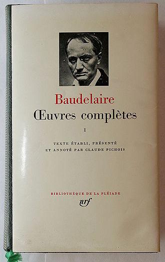 Bibliothèque de la Pléiade - Title page of a work of Charles Baudelaire in the Bibliothèque de la Pléiade