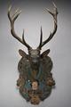 Jakttrofé - Skulpterat huvud m. kronhjortshorn - Livrustkammaren - 86101.tif