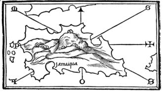 Juan de Esquivel - Map of Jamaica in 1528